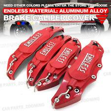 Metal 3D ENDLESS Universal Style Brake Caliper Cover front rear 4Pcs Red L+M WL4