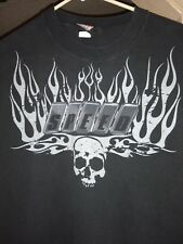 Speed Grunge Flames Skull Men's Tee -Image vtg.