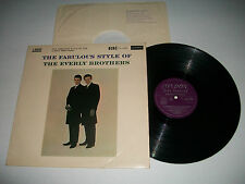 The Fabulous Style Of The Everly Brothers - Orig. UK Vinyl LP London. Good +/VG