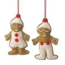 Gingerbread Man & Woman Fabric Christmas Ornament Set ~ Set/2 by Midwest-CBK
