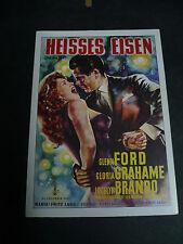 THE BIG HEAT, film card [Glenn Ford, Gloria Grahame]