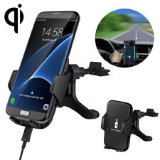 Qi Wireless Car Charger Air Vent Mount Holder For Samsung Galaxy S8 iPhone 8 X