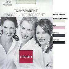 Edle Hauchfeine Strumpfhose transparent - 15den schwarz 42-44 *olsen*