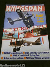 WINGSPAN # 45 - WWI REMEMBERED - MAY 1988