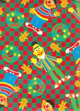 CHRISTMAS GIFTWRAP SESAME STREET (BERT AND ERNIE) 800FT NEW