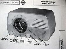 STEWART WARNER 9162-A & 9162-B RADIO PHOTOFACT