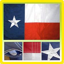 2x3 Embroidered State Of Texas Pole Sleeve 220D Sewn Nylon Flag 2'x3' Premium
