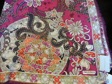 """NEW EMILIO PUCCI CASHMERE BLEND SCARF/SHAWL 53.5""""x53.5"""" MADE IN ITALY"""