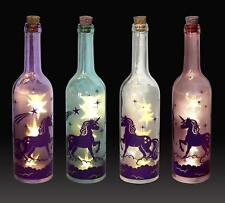 Einhorn Deko Flasche mit LED Lichtern - Unicorn Bottle Light - Nachtlicht 30cm