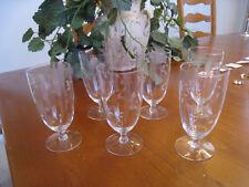 6 Princess House Heritage Iced Tea Glasses Vintage