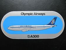 OLYMPIC AIRWAYS sticker AIRBUS A 300 Greece