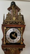 Antique Vintage Franz Hermle Wood & Brass Cuckoo Clock Made in Holland