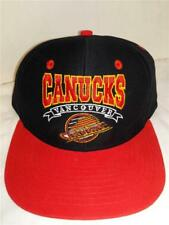 1cd24dd7 New Vancouver Canucks Mens OSFA Flatbrim Snapback Black Red Vintage Hockey  Hat