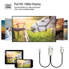 1080P Connector to HDMI HDTV TV  AV Adapter for iPhone X Apple Screen Mirroring