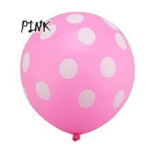 5Pcs Pink Polka Dot Baloons BALLOONS helium Ballons Party Birthday Wedding