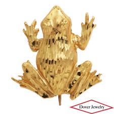 Estate 14K Yellow Gold Frog Pin NR