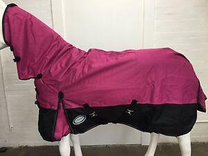 AXIOM 1800D BALLISTIC WATERPROOF PINK/BLACK LIGHT/NO FILL MESH HORSE COMBO 5' 6
