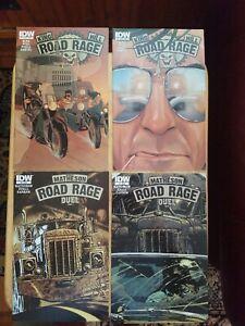 Road Rage #1B #2B #3 #4/ Comic Set/ Lot/ Run/ 1st Print/ IDW/ King/ Hill NM/VF