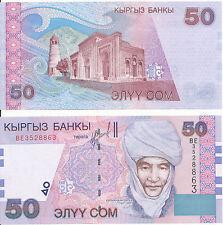 Kirgisistan /  Kyrgyzstan - 50 Som 2002 UNC - Pick 20