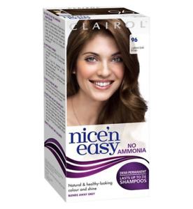 Clairol Nice'n Easy Semi-Permanent Hair Dye No Ammonia 96 Lightest Golden Brown