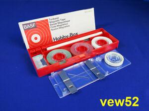 """BASF """"HOBBY BOX"""" 1. Serie TONBAND REPARATUR SET TAPE REPAIR **AS NEW** (NW1)"""