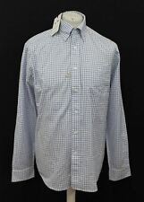 BNWT R.M. WILLIAMS Men's Collins Blue White Check Long Sleeve Shirt Size S