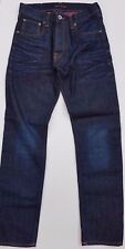 East IS THE BEST Blue blue denim jeans button fly Size W30/L32