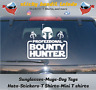 Boba Fett Mandalorian Bounty Hunter 7 inch window vinyl decal sticker