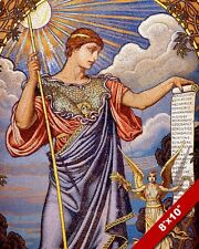MINERVA THE GREEK GODESS OF MAKER CRAFTING MOSAIC PAINTING ART REAL CANVAS PRINT