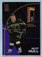 BRETT HULL 1998/99 IN THE GAME BE A PLAYER 5 COLOR GAME USED STICK