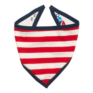 Kite Bandana Bib Boys Stripy Fish French Navy