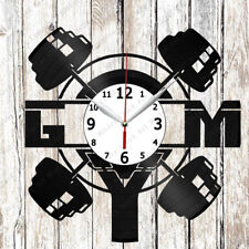 GYM  Vinyl Wall Clock Made of Vinyl Record Original gift 2315