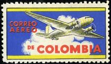 CORREO AEREO de COLOMBIA - Beautiful AIRLINE Advertising Poster Stamp 1955