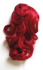 Haarteil Zopf Haarverlängerung   Klammer & Clips leicht gewellt 25-27cm lang Neu