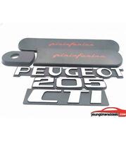 Kit CTI :custodes grises pininfarina + 3 Monogrammes PEUGEOT +205+ CTI