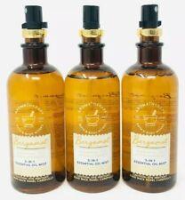 3~Bath and Body Works BERGAMOT Aromatherapy 5-in-1 Essential Oil Mist 5.3 Oz