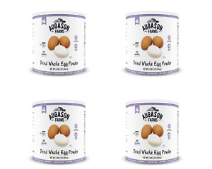 Augason Farms Dried Whole Egg Powder Certified Gluten Free # 10 Can - 4 Cans
