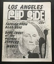 FLIPSIDE FANZINE ISSUE #4 ORIGINAL MAGAZINE DAVE TROUT ZIPPERS DEAD BOYS NM 1977