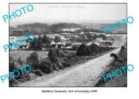 OLD 8x6 PHOTO FEATURING SMITHTON TASMANIA VIEW OF THE TOWNSHIP c1900