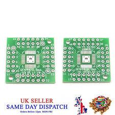 2 Side PCB QFN48 à QFN44 5 mm pin côté Adaptateur Board IC Plaque