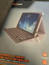 """Blackweb BWA18TA015 Universal Tablet Case With Keyboard For 9-10"""" Tablets GA 🔥"""