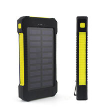 AU Protable 50000mah Solar Power Bank 2usb External Charger Battery for iPhone 7 Yellow