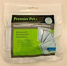 Genuine Premier Pet 4-PK Replacement Carbon Water Filters Aqua Fountain