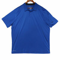Nike Men's Blue Dri-Fit Vented Athletic Golf Polo Shirt - Size XXL