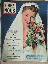 Chez Nous n°16 (20/26 avril 1961) Couple Maison Blanche -D Gaubert -Peaux Rouges