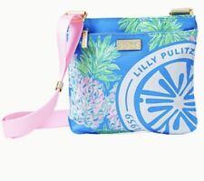 NWT Lilly Pulitzer Pompano Crossbody Bag- Zanzibar Blue Swizzle Out