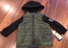 iXtreme Puffer Jacket Toddler Boys Winter Spring Hooded 24months Green Black