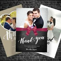 WEDDING Thank You Photo Cards Personalised ~ Free Proof Fast Post & Envelopes