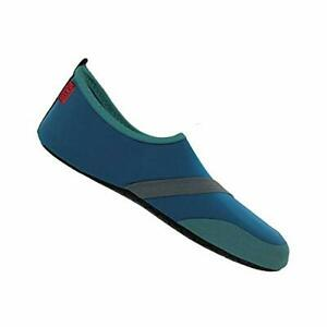 FitKicks Men's Foldable Active Footwear Barefoot Yoga Water Shoes - L(10-11)