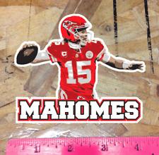 "Mahomes Patrick Kansas City Chiefs Fan Sticker Decal Bumper Window 4"""